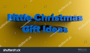 little christmas gift ideas 3d rendered stock illustration