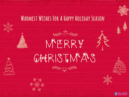 warmest wishes for a happy season merry