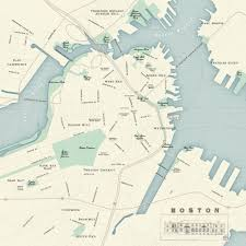 Back Bay Boston Map by Newhouse Design A Map And Infographic Studio Map Of Boston Harbor