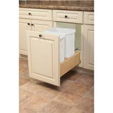 3 Bin Cabinet Knape U0026 Vogt Wooden Double Waste Bin Pull Out With Soft Close