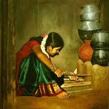 photo to oil painting of rural indian women oil painting 1 picture