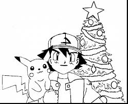 remarkable pokemon pikachu christmas coloring pages pikachu