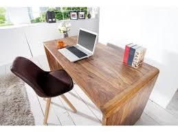 bureau en bois design bureau design en bois de chêne avec 3 tiroirs congo 135 cm