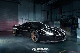 all black ferrari black ops a sinister 488 with novitec and adv1 dna tag