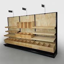 bakery fixtures wood adjustable wall shelving