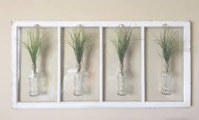 Vases For Home Decor Easy Old Window Decor With Vases And Greenery