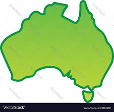 austrial map australia map simplified royalty free vector image