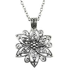 antique silver necklace chains images Wysiwyg fashion simple antique silver color 66x47mm big flower jpg