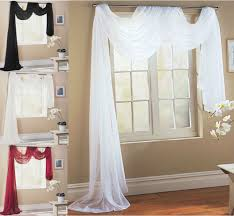 victoria plain voile scarf pelmet valance swag window bed