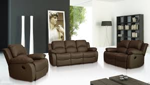 Leather Recliners South Africa Sale New Luxury Valencia 3 2 1 Seater Leather Recliner Sofas Black