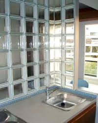 cuisine en verre saverbat exemple de réalisation cuisine en briques de verre