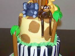 jungle safari themed baby shower cake cakecentral com