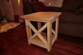 How To Build Wood End Tables by Ana White Smaller Rustic X End Table Diy Projects