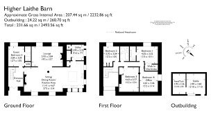 Stable Floor Plans Property U003e U003e Higher Laithe Barn Barley Msw Hewetsons
