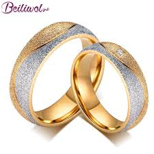 metal rings jewelry images Engraved name couple ring ladies jewelry gold color stainless jpg