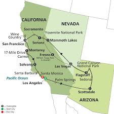 Map San Francisco To Yosemite National Park by Vacation Overview