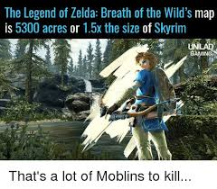 Legend Of Zelda Memes - the legend of zelda breath of the wild s map is 5300 acres or 15x