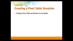 Excel Pivot Table Template Pivot Table Templates In Excel 2013