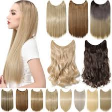 headband hair extensions us stock crown wire invisible headband hair extensions 20 24