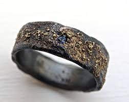 rustic mens wedding bands rustic mens ring etsy