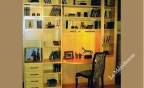 bibliothèque avec bureau intégré meuble bibliothèque modulaire avec bureau intégré la meridienne