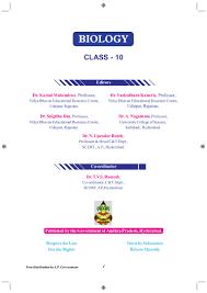 tenth class state syllabus text book em ap ts biology