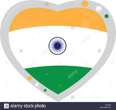 The Indian Flag Isolated Heart Shape With The Indian Flag On A White Background