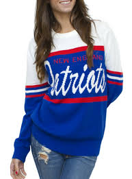 patriots sweater nfl patriots unisex throwback intarsia sweater
