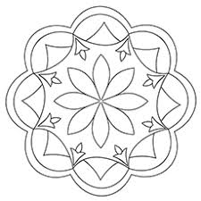 10 free printable rangoli coloring pages