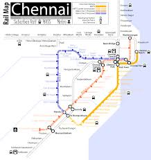 Metro Route Map by Chennai Mrts Metro And Suburban Railway Map Bitterscotch