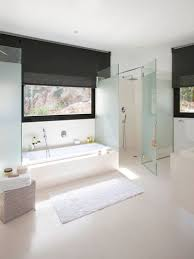 bedroom large bathroom design with frosted glass for partition
