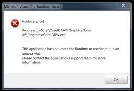 corel draw x5 runtime error runtime error when closing cdgs x6 coreldraw graphics suite x6