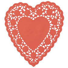 heart shaped doilies square rectangular and heart shape lace lapaco