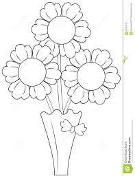 Vase Drawing Flowers In Vase Stock Illustration Image 65393127