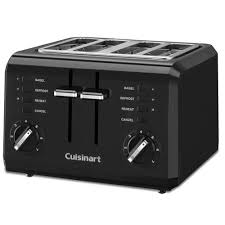 4 Slice Cuisinart Toaster Cuisinart 4 Slice Compact Toaster Black Toasters Best Buy Canada