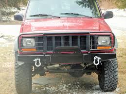jeep front grill guard elite brush guard winch front bumper jeep cherokee xj comanche 84