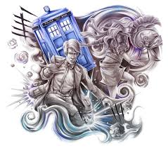doctor who anime half sleeve tattoo design cris luspo tattoo designs