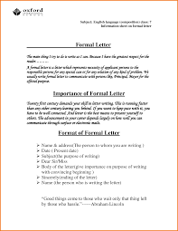 Form For Business Letter by 6 Formal Letter Format With Subject Financial Statement Form