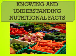 interpret nutritional facts identify healthful food choices at