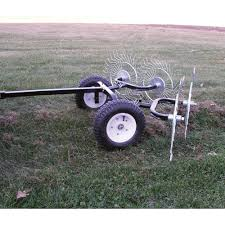 Atv Landscape Rake by The Yard Tuff Pull Behind Dethatching Rake Turns Your Atv Or Lawn