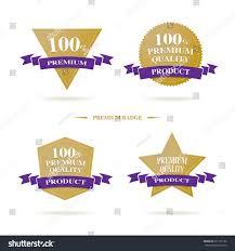 vector 100 premium quality badge logo stock vector 271107158