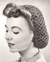 hair nets vintage crochet pattern to make snood hairnet hair net fishnet