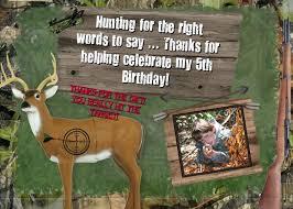 hunting thank you card photo boys birthday party theme camo