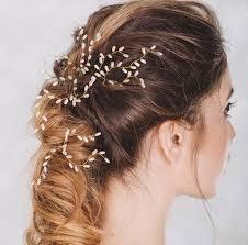 flower hair accessories 3pcs set handmade bridesmaid pearl flower hair pins bridal