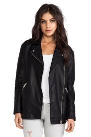 leather moto jacket bb dakota atleg vegan leather moto jacket in black revolve