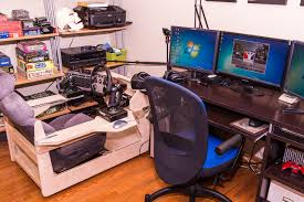 Flight Sim Desk Tyrien U0027s Combination Racing Flight Workstation Diy Wood Rig