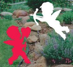 Valentine S Day Yard Decor by Valentine U0027s Day Cupid And Heart Pair Wood Lawn Decoration