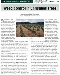 weed control in christmas tree bulletin now available msu extension