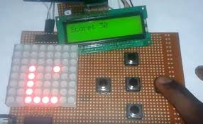 arduino snake game on 8x8 led matrix circuit diagram and c code