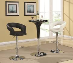 Small Kitchen Bar Table Ideas by Furniture Black And White Bar Table Set Matched With Wine Bottle